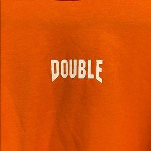 SHEIN Tops - Neon Orange Slogan Loose Crop Tee